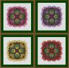 Wzór do haftu M2125 - mandala kwiatowa warianty kolorystyczne