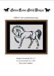 Wzór do haftu M2010 - koń z podniesioną nogą
