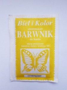 Barwnik - Biel i Kolor - cytrynowy