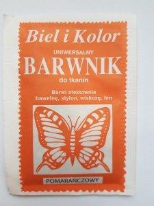 Barwnik - Biel i Kolor - pomarańczowy