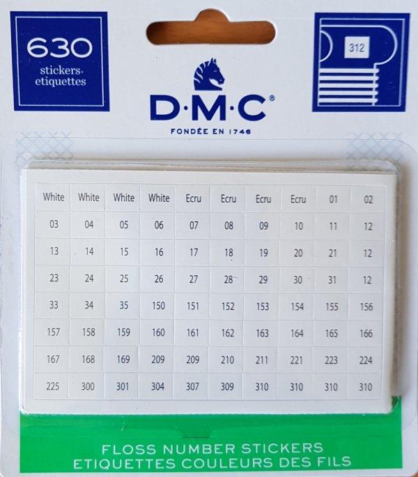 Naklejki z numerami DMC
