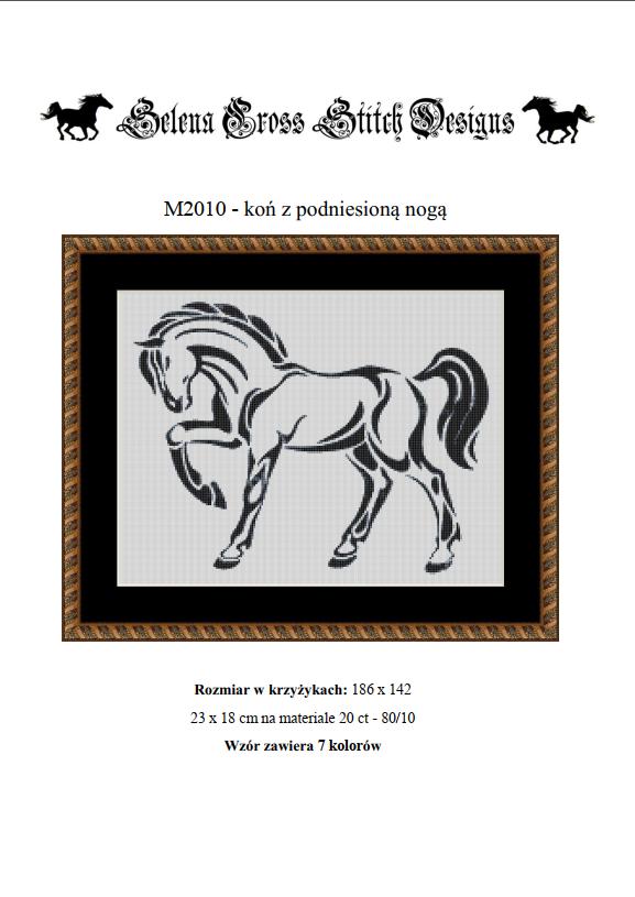 Wzór do haftu koń