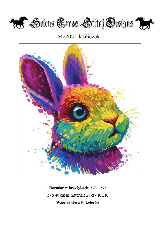 wzór do haftu M2202 - króliczek
