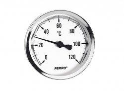 Termometr tarczowy 40mm 1/2 FERRO do CO 120C