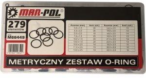 Zestaw oringów 270 szt typ II