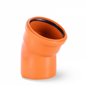 Kolano PCV 110 kąt 45 stopni kanalizacyjne pomarańczowe
