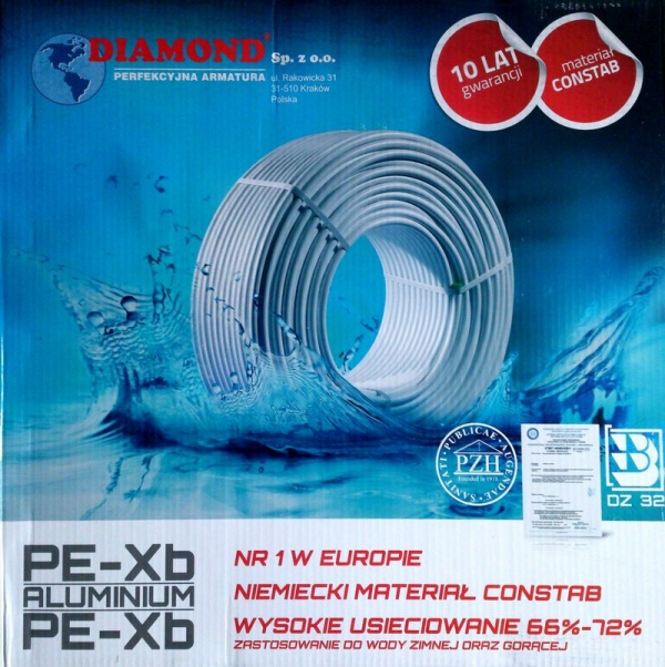 Rura PEX/Al/PEX 20 DIAMOND 25M