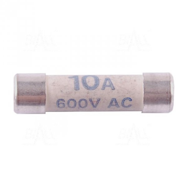 Bezpiecznik 10A/600V 6X25 CHY19/491 ceramiczny