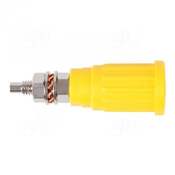 Gniazdo panelowe bezp. 4mm wcisk. SEPB1781-Y 32A CATII 1,5kV żółty