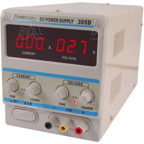 Zasilacz lab 305D 30V/5A DC LED PowerLab
