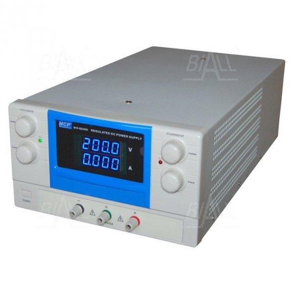 Zasilacz lab QS2005 DC 200V/5A do pracy ciągłej MCP