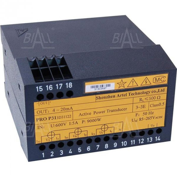 Przetwornik mocy czynnej 3-faz PRO P313D31122  ARTEL