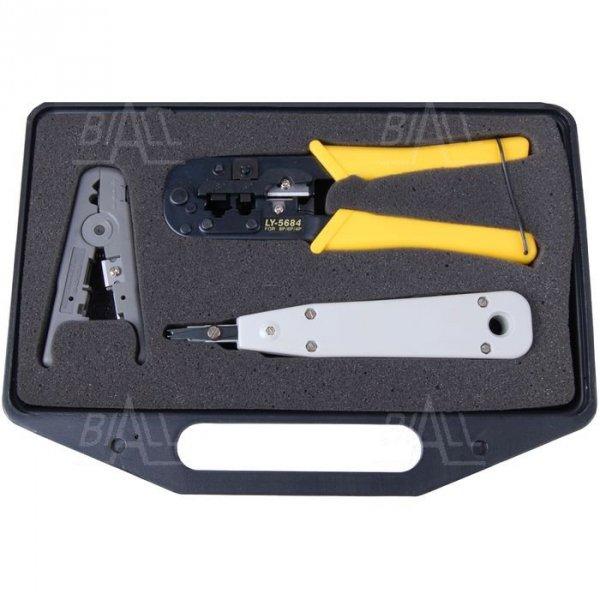 OPT LY568-3A Zestaw narzędzi telekomunikacyjnych 8p8c, 6p6c, 4p4c, RJ45