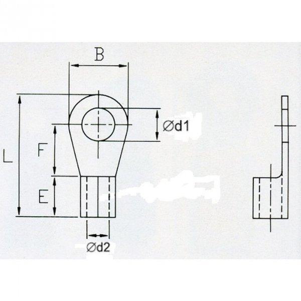 KON2-6 Końc. oczkowa nieizol. 1,5-2,5mm2/M6 100szt