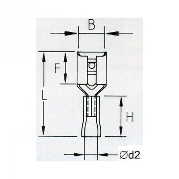 KFB48x08 Konektor żeński izolowany 100szt
