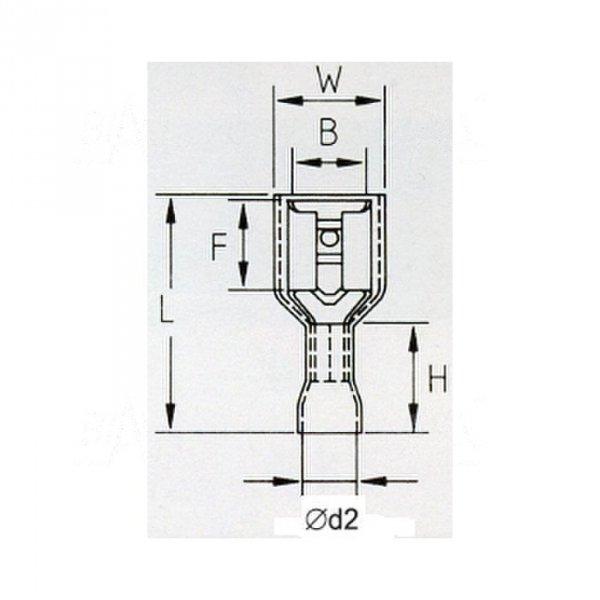 KFIY63x08 Konektor żeński izolowany 100szt