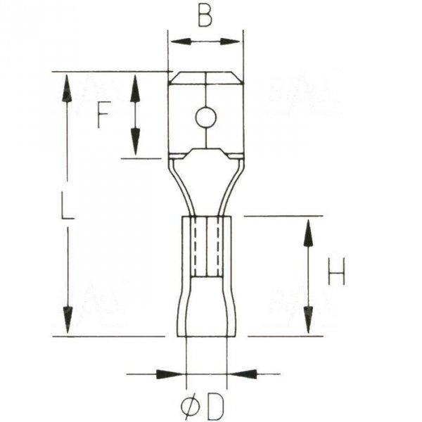 KMR63x08 Konektor męski izolowany 100szt