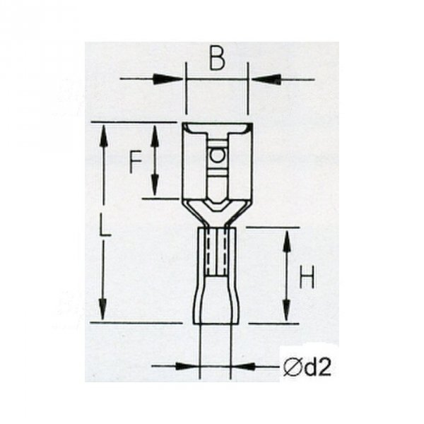KFB48x08D Konektor żeński izolowany 100szt