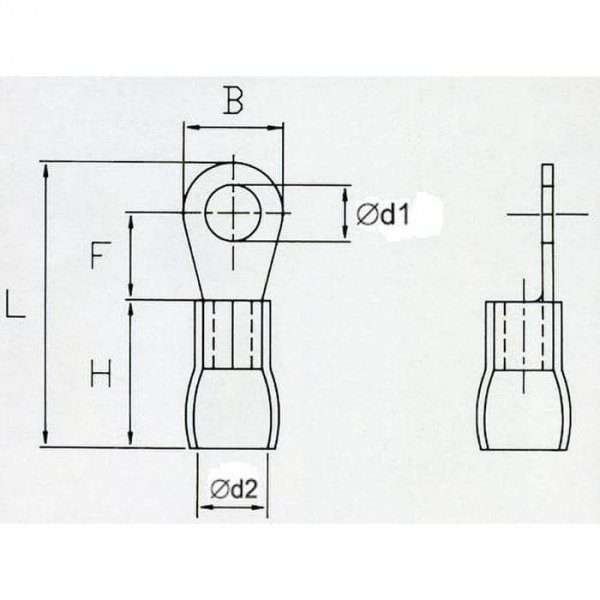 OKR6 Końcówka oczkowa izol. M6 100szt