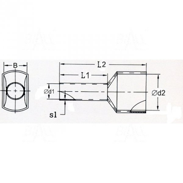 KR007510*2 GY  Tulejka izolow. 2*0,75mm2x10    100szt