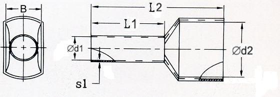 KR010008x2 R Tulejka izolow. 2x 1,0mm2x8   100szt