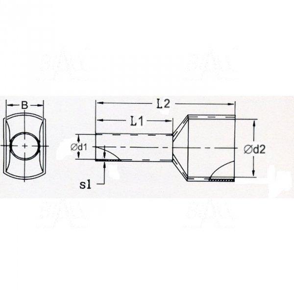 KR015008x2 BK Tulejka izolow. 2x 1,5mm2x8   100szt