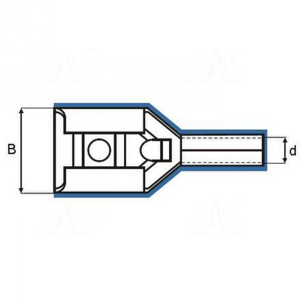 ZKF-5mm2-6.3R Konekt. żeński złocony, czerw. osłonka