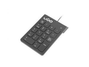 UGo Klawiatura Askja K140 numeryczna USB przewodowa Czarna