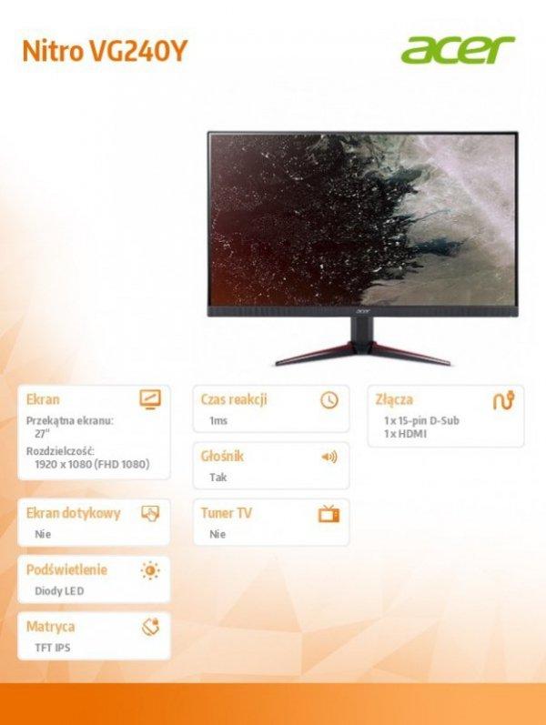 Acer Monitor 24 Nitro VG240Ybmiix
