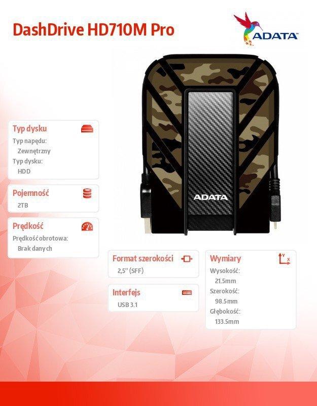 Adata DashDrive HD710M Pro 2TB 2.5'' U3.1 Military
