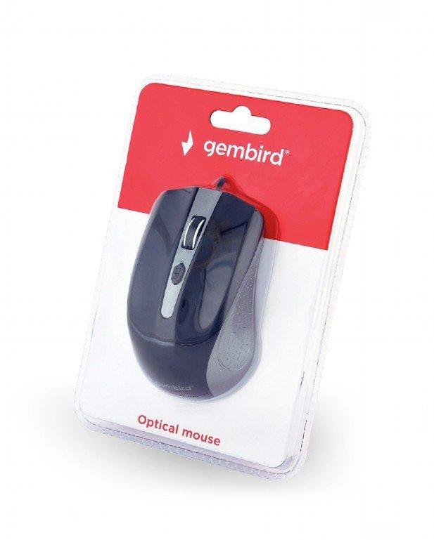 Gembird Mysz optyczna USB szaro-czarna