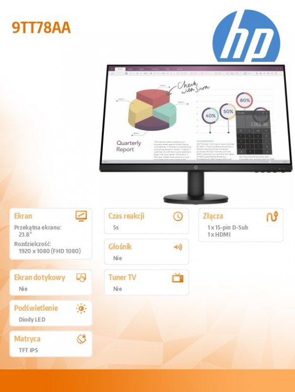HP Inc. Monitor P24v G4 FHD Monitor 23,8 9TT78AA