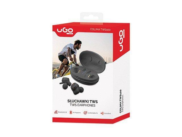 UGo Słuchawki bezprzewodowe Colima TWS100 Czarne
