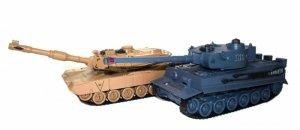 Zestaw wzajemnie walczących czołgów M1A2 Abrams i German Tiger v2 2.4GHz 1:28