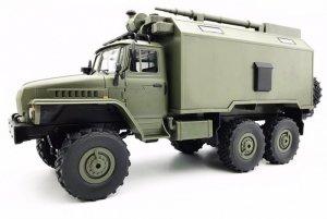Ciężarówka wojskowa WPL B-36 (1:16, 6WD, 2.4G, LiPo) - Zielony