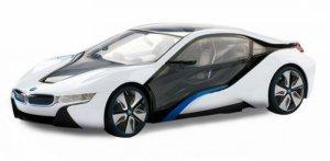 BMW i8 1:14 2.4GHz RTR (zasilanie na baterie AA) - Biały