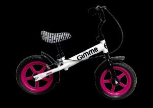 Rowerek biegowy z hamulcem Nemo - różowy