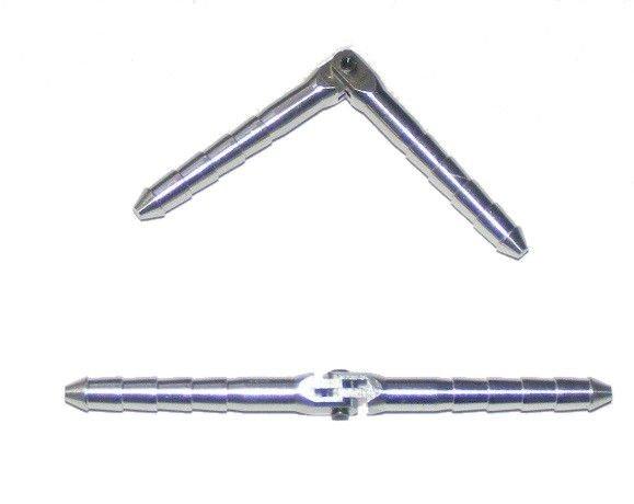 Zawias walcowy aluminiowy z pinem 4,5 x 70, 2 szt
