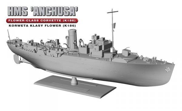 """HMS """"Anchusa"""" Brytyjska Korweta klasy Flower K186"""