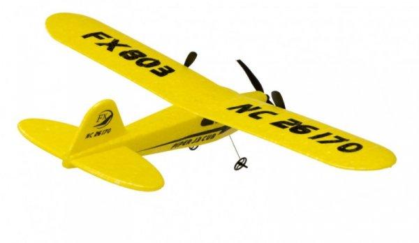 Piper J-3 CUB 2.4GHz RTF (rozpiętość 34cm) - żółty