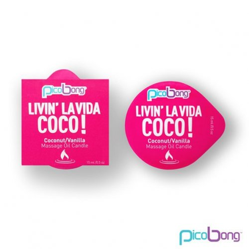 PicoBong - Świeca do masażu - Coconut & Vanilla Massage Oil Candle
