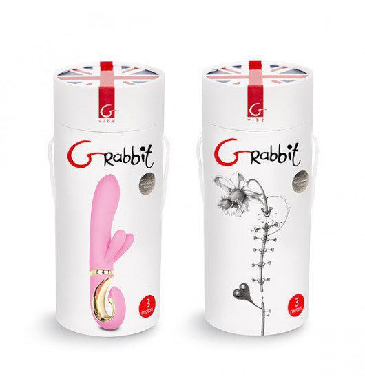 Wibrator Grabbit- trzy mocne silniczki-Gvibe Grabbit Candy Pink