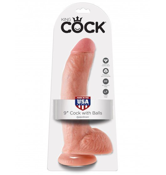 "King Cock 9"" Cock with Balls Flesh"