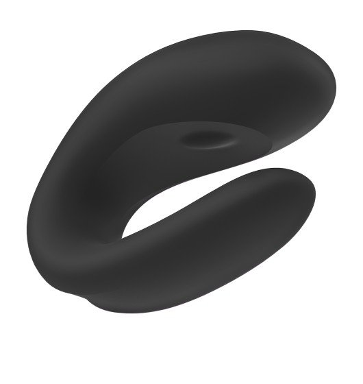 Zdalny Wibrator Satisfayer Double Joy Black incl. Bluetooth and App