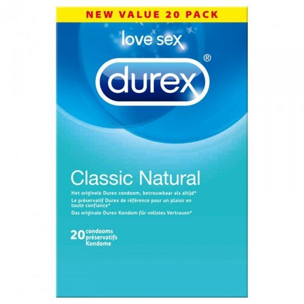 Prezerwatywy - Durex Classic Natural Condoms 20 szt