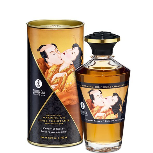 Olejek do masażu - Shunga Aphrodisiac Warming Oil Caramel Kisses 100 ml
