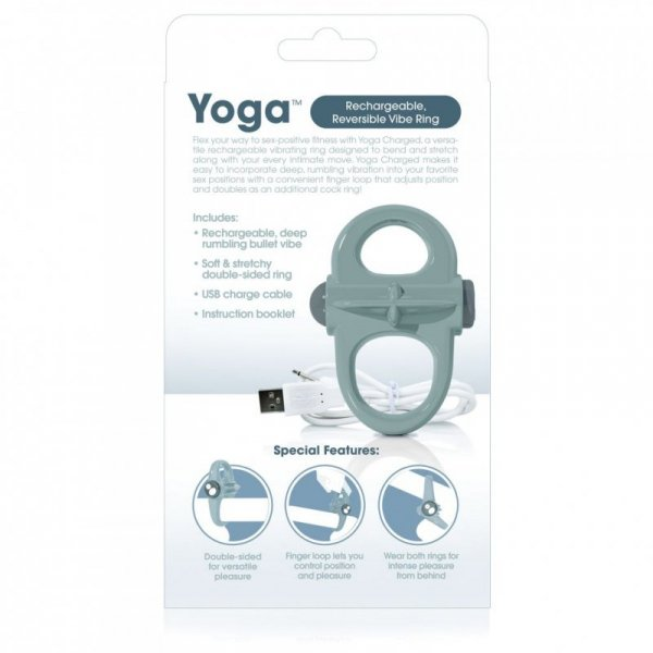 Pierścień wibrujący - The Screaming O Charged Yoga Vibe Ring Grey
