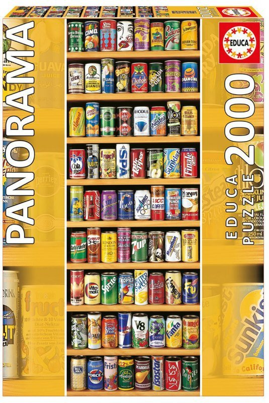 Puzzle 2000 elementów, SOFT CANS panorama