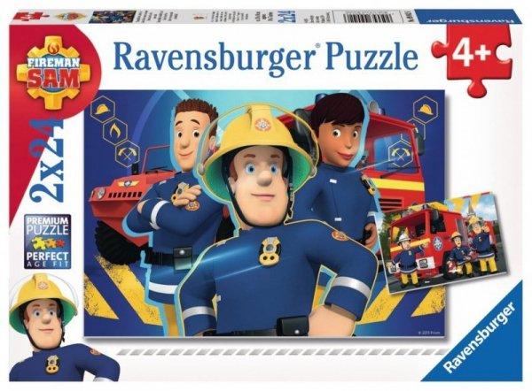 Puzzle 2x24 elementy -  Strażak Sam