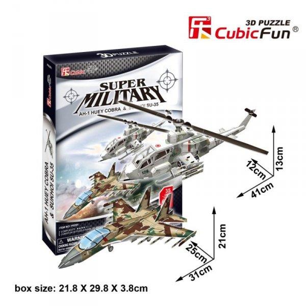 Puzzle 3D AH-1 Huey Cobra & Sukhoi SU-35